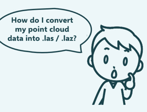 How to convert your point cloud data into .Las / .Laz