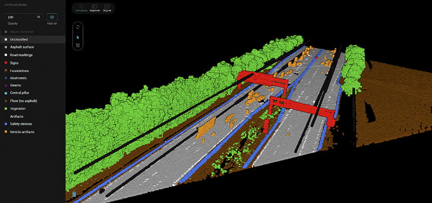 A via Pointly classified Highway 3d Point Cloud Scan