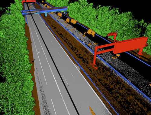 The automated labeling of point clouds from highway scans